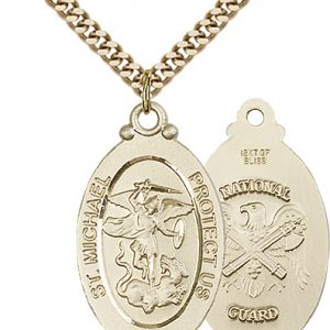 14kt Gold Filled St. Michael - Nat'l Guard Pendant