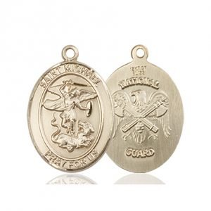 14kt Gold St. Michael - Nat'l Guard Medal