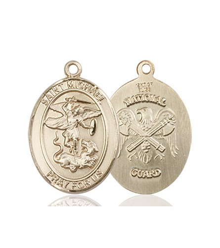 14kt Gold St. Michael - Nat'l Guard Medal