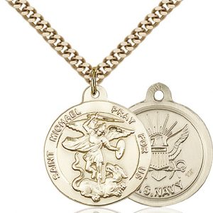 14kt Gold Filled St. Michael the Archangel Pendant