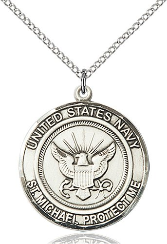 Sterling Silver Navy - St. Michael Pendant