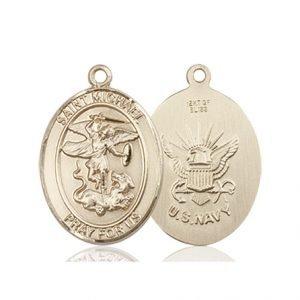 14kt Gold St. Michael - Navy Medal