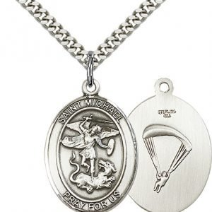 Sterling Silver St. Michael - Paratrooper Pendant