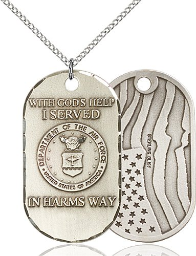 Sterling Silver Air Force Pendant
