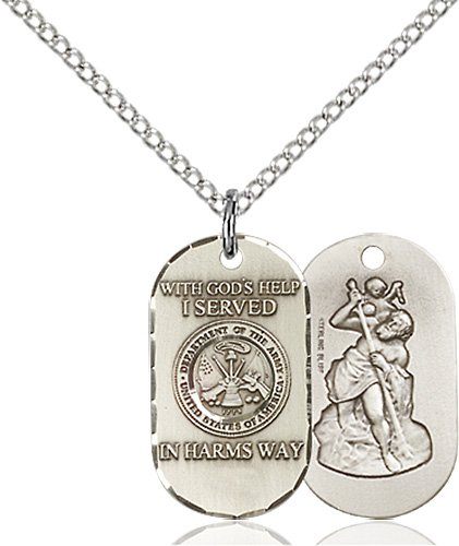 Sterling Silver Army Pendant