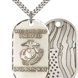 Sterling Silver Marines Pendant