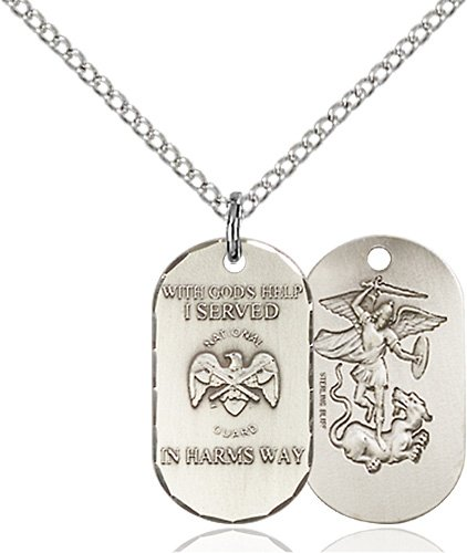 Sterling Silver National Guard Pendant