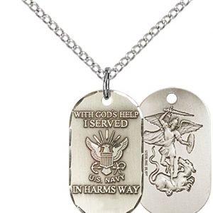 Sterling Silver Navy Pendant