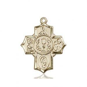 14kt Gold Millennium Crucifix Medal #87430