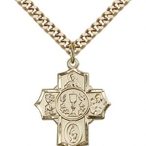 Gold Filled Millennium Crucifix Necklace #87428