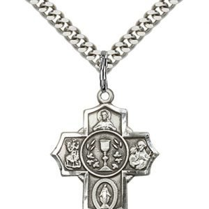 Sterling Silver Millennium Crucifix Necklace #87431