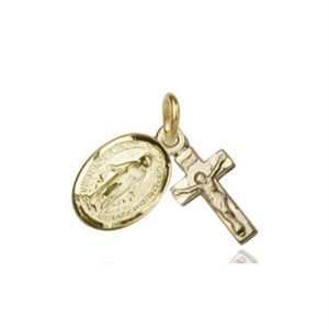 Miraculous Medal - 14 KT Gold (#87311)