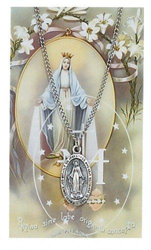 Miraculous Pendant and Prayer Card Set