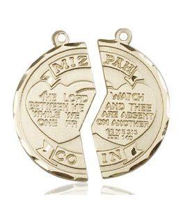 14kt Gold Miz Pah Coin Medal