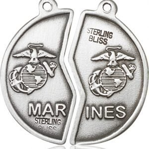 Sterling Silver Miz Pah Coin Set - Marines Pendant
