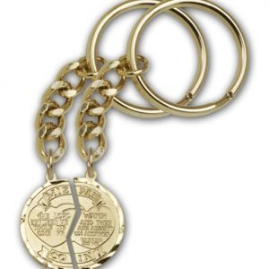 Gold Plate Miz Pah Keychain