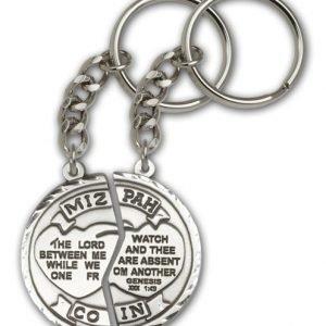 Antique Silver Miz Pah Keychain
