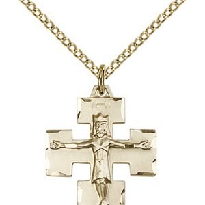 Gold Filled Modern Crucifix Necklace #87597