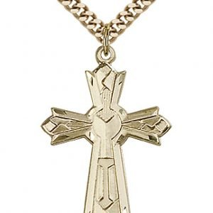 Gold Filled Mosaic Cross Necklace #87995