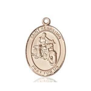 14kt Gold St. Sebastian / Motorcycle Medal
