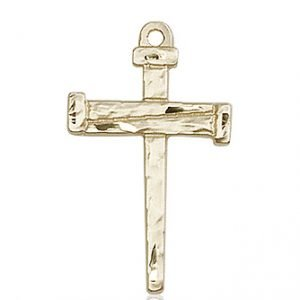14kt Gold Nail Cross Medal #86818