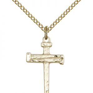 Gold Filled Nail Cross Necklace #86812