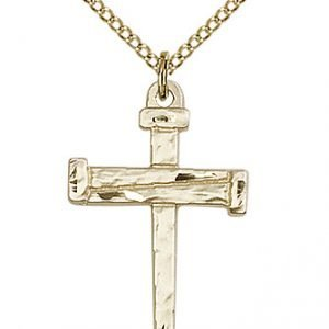 Gold Filled Nail Cross Necklace #86816