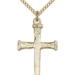 Gold Filled Nail Cross Necklace #86884