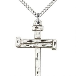 Sterling Silver Nail Cross Necklace #86819