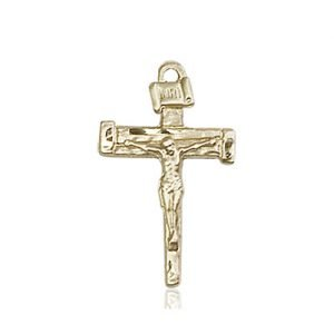14kt Gold Nail Crucifix Medal #86870