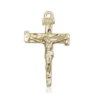 14kt Gold Nail Crucifix Medal #86874