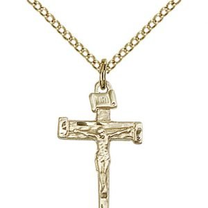 Gold Filled Nail Crucifix Necklace #86868