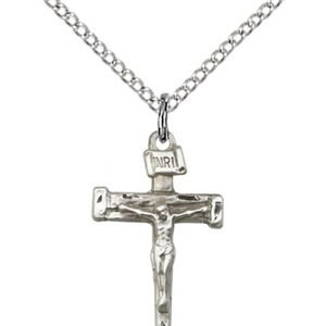 Sterling Silver Nail Crucifix Necklace #86871