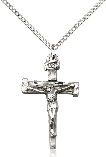 Sterling Silver Nail Crucifix Necklace #86875