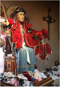 Nino de Atocha statue at Santuario de Chimayo in NM