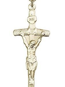 Gold Filled Papal Crucifix Necklace #87061