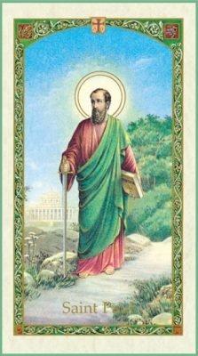 St. Paul Holy Card