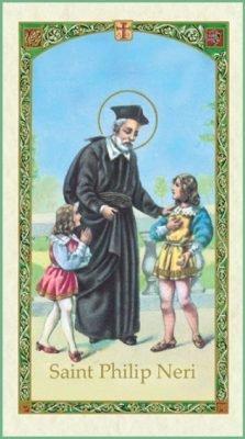 St Philip Neri Holy Card