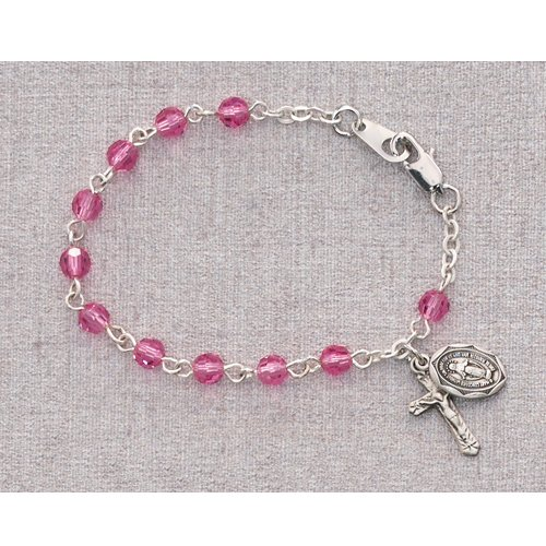 Bracelet with Miraculous Medal and Crucifix Charm