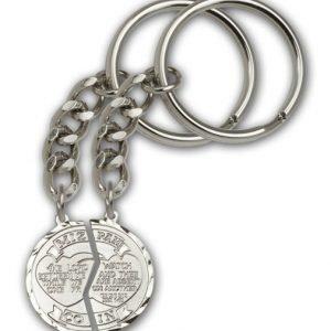Silver Plate Miz Pah Keychain
