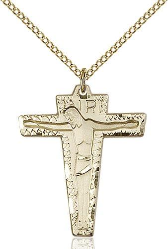 Gold Filled Primative Crucifix Necklace #87229
