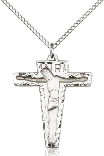 Sterling Silver Primative Crucifix Necklace #87232