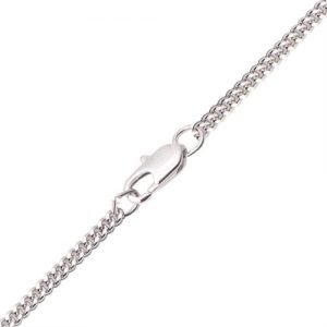 Rhodium Plated Light Curb Chain