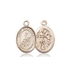 14kt Gold St. Sebastian / Rodeo Medal
