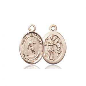 14kt Gold St. Sebastian / Rugby Medal