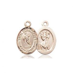 14kt Gold St. Christopher / Rugby Medal