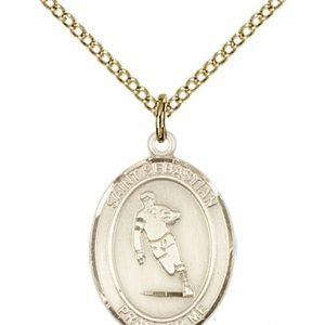 Gold Filled St. Sebastian / Rugby Pendant