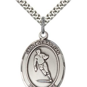 Sterling Silver St. Sebastian / Rugby Pendant