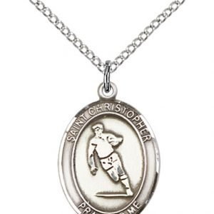 Sterling Silver St. Christopher / Rugby Pendant
