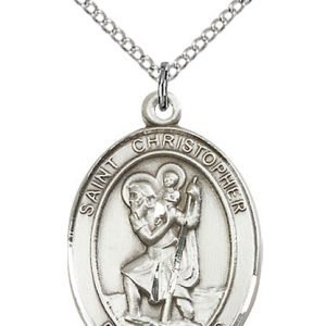Saint Christopher Sterling Silver Medal (#15529)